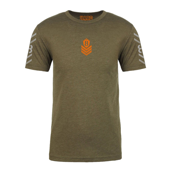"MEN'S ""MILITARY 8"" ULTRA-SOFT TRI-BLEND CREW-NECK Army Heather"