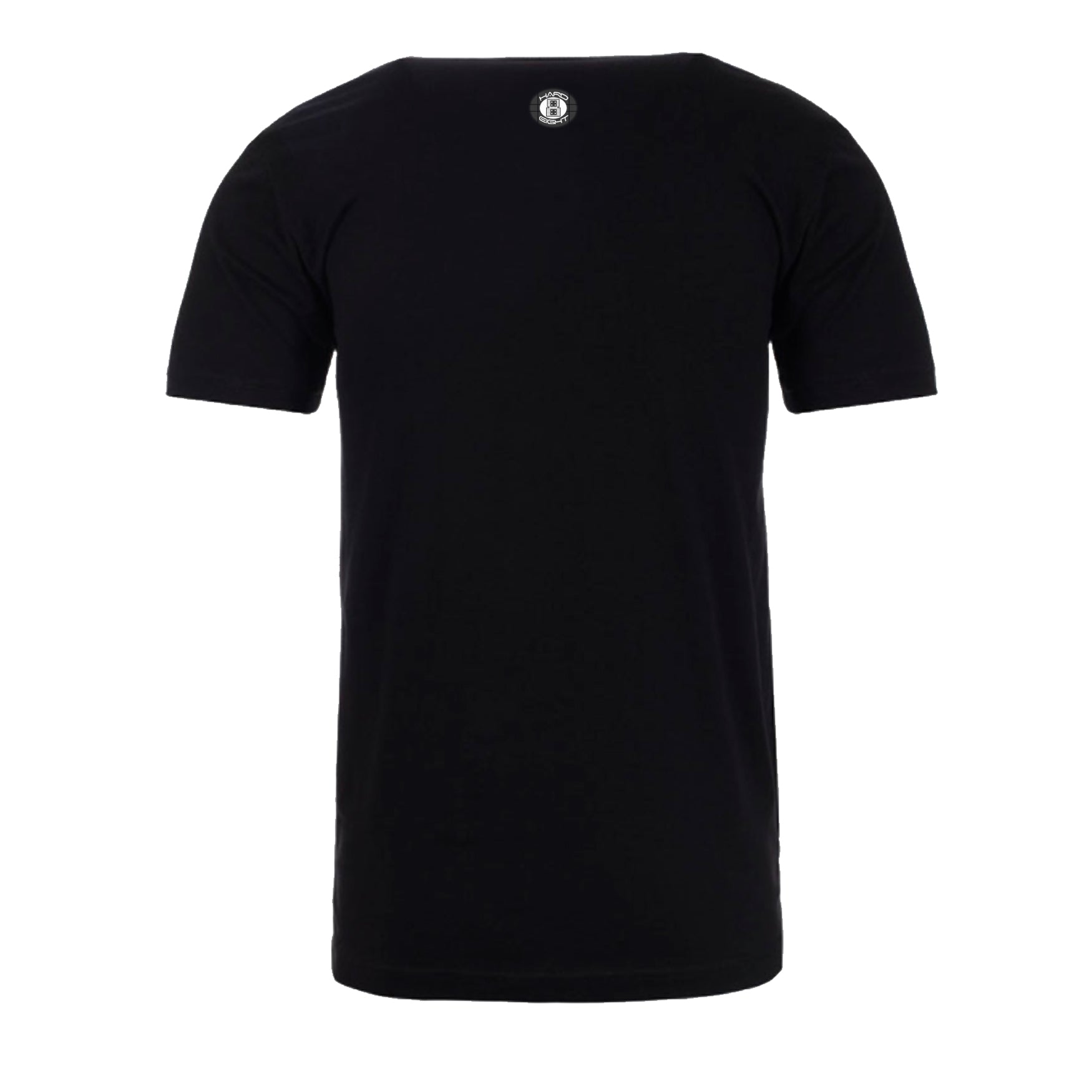 "MEN'S ""ANKH SLEEVE"" SUEDED COTTON BLEND V-Neck Black"