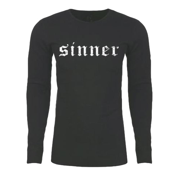 "UNISEX Long Sleeve THERMAL ""SINNER"" Black"