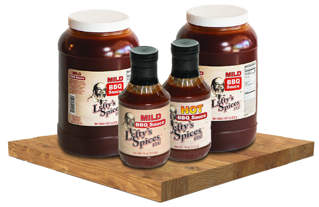 Lefty's gluten free bbq sauce in regular 18oz and gallon size