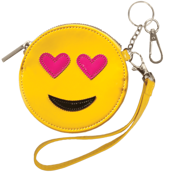 HEART EYES PURSE KEYCHAIN