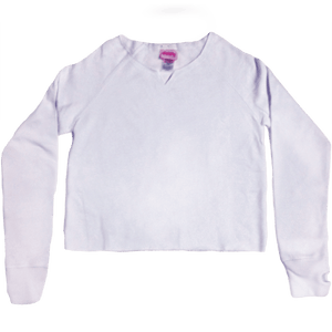 WHITE CUT SWEATSHIRT