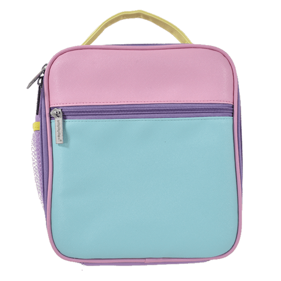 COLOR BLOCK LUNCH TOTE