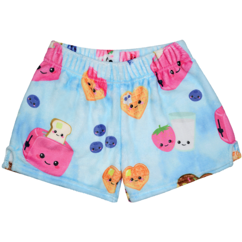 breakfast fun plush shorts