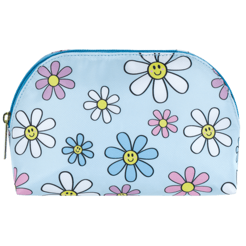 daisies oval cosmetic bag