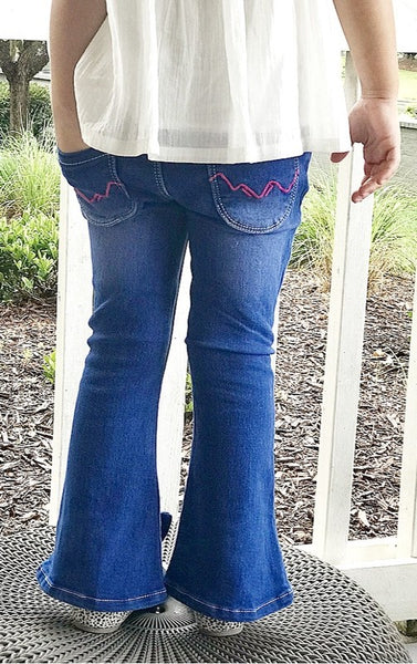 STORMY FIT AND FLARE BOW JEANS