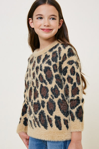 WILLOW TAN LEOPARD SOFT SWEATER