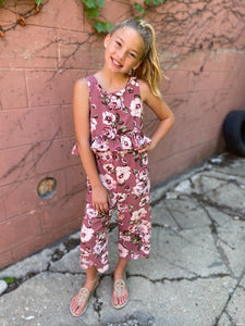 ROSE FLORAL JUMPSUIT