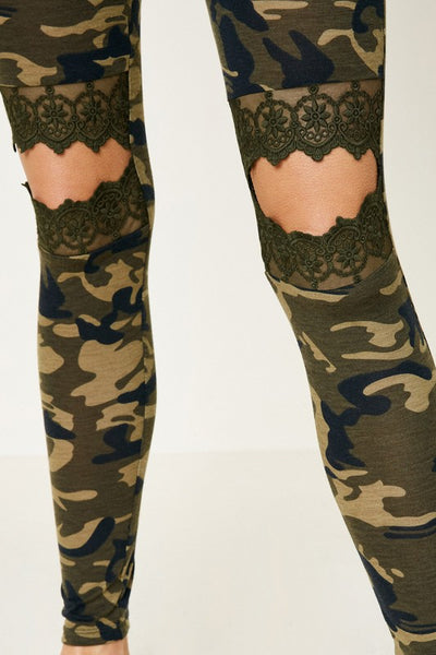 CAMO LACE LEGGINGS (8573)
