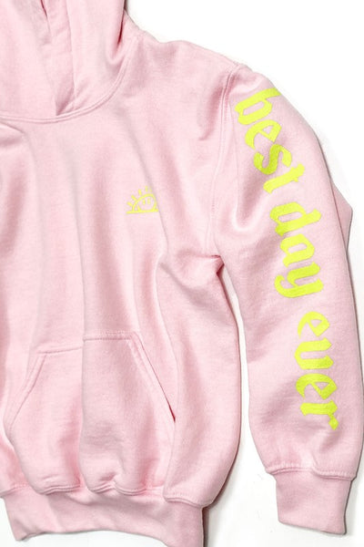 WASHED PINK BEST DAY EVER HOODIE