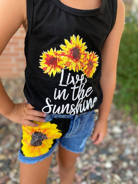 SUNSHINE SUNFLOWER SHORTS SET (9334)