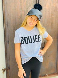 GREY BOUJEE GRAPHIC KIDS TEE (9377)