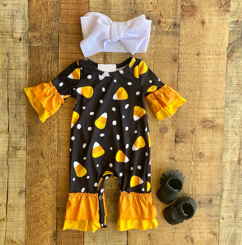 CANDY CORN BABY ROMPER (9407)