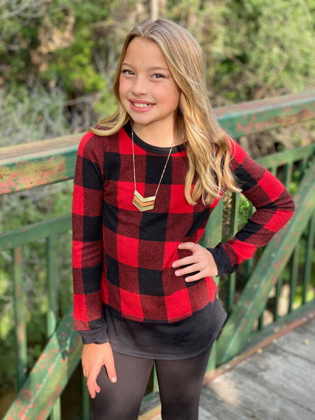CAMERON RE/BLACK CHECK TOP