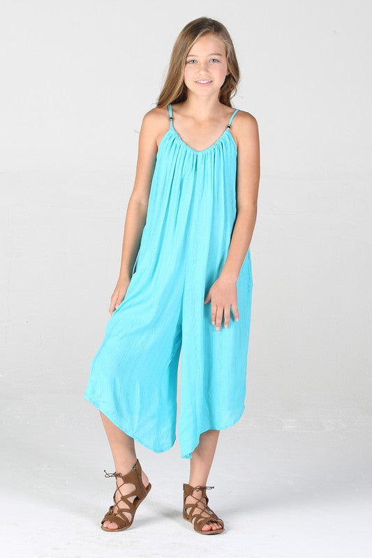 AQUA PULL ON JUMPSUIT
