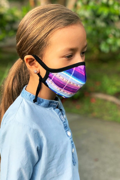 GIRL'S MULTICOLOR FACE MASKS