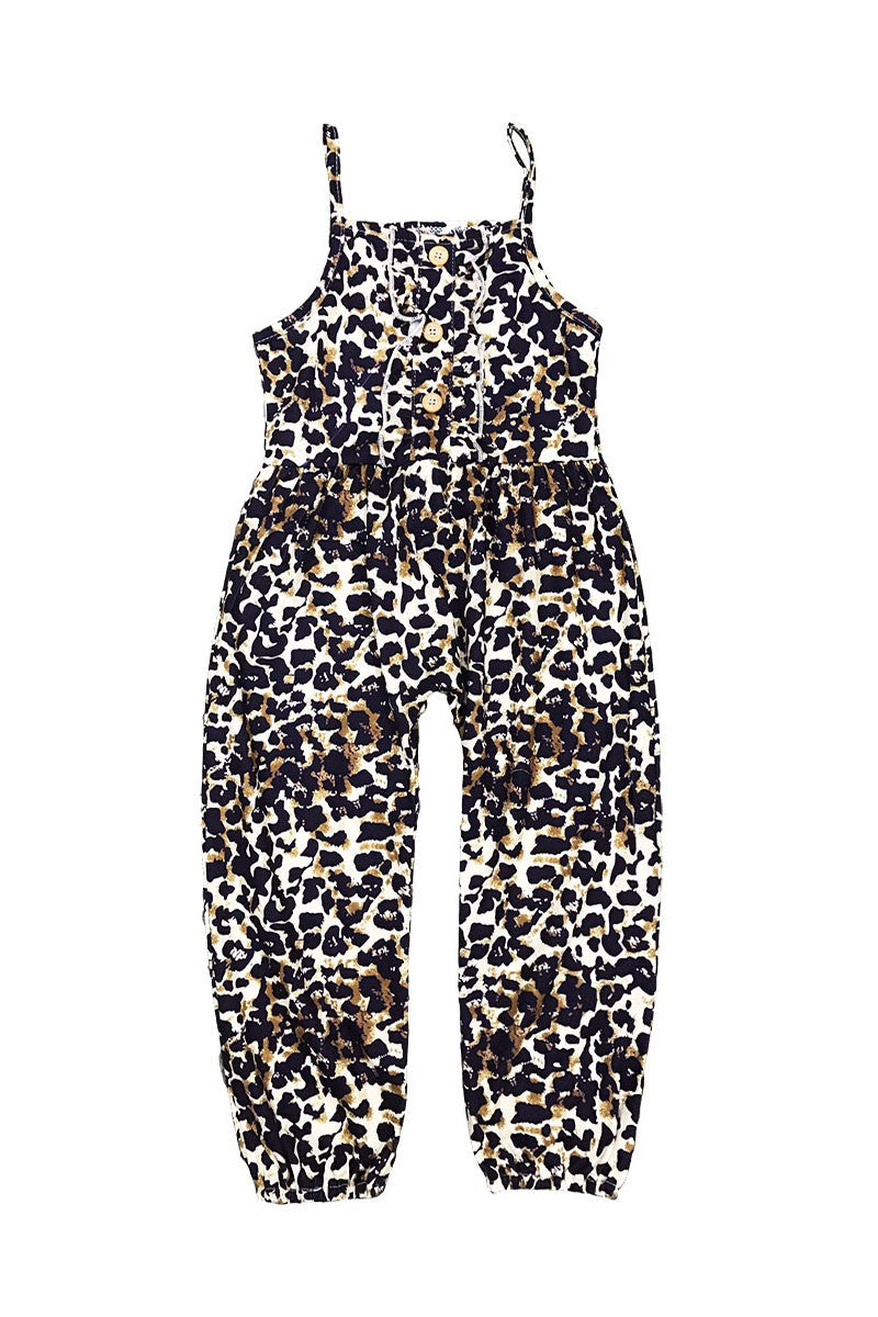 LEOPARD RUFFLE JUMPSUIT OVERALL (9178)
