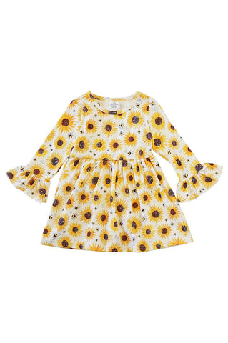 SUNFLOWER BELL SLEEVE DRESS