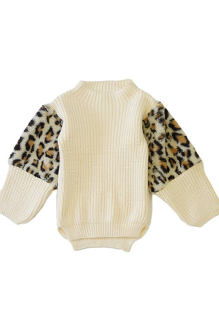 fur leopard sweater