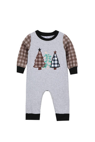 christmas trees baby romper