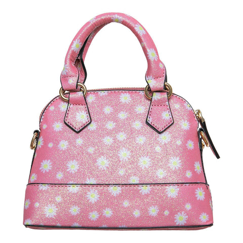 pink daisy girl's purse