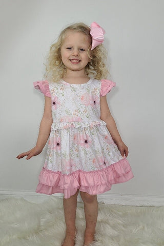 angelic floral ruffle dress