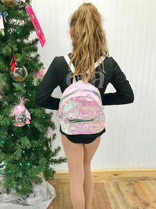 PINK MERMAID SEQUINS MINI BACKPACK