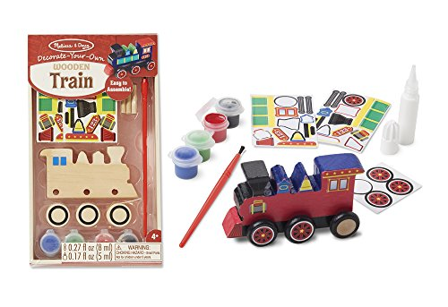 DECORATE YOUR OWN WOODEN TRAIN