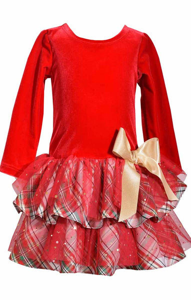 SAMANTHA HOT MESS RED AND PLAID DRESS