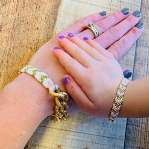 MOMMY N ME CHEVRON BRAIDED BRACELETS