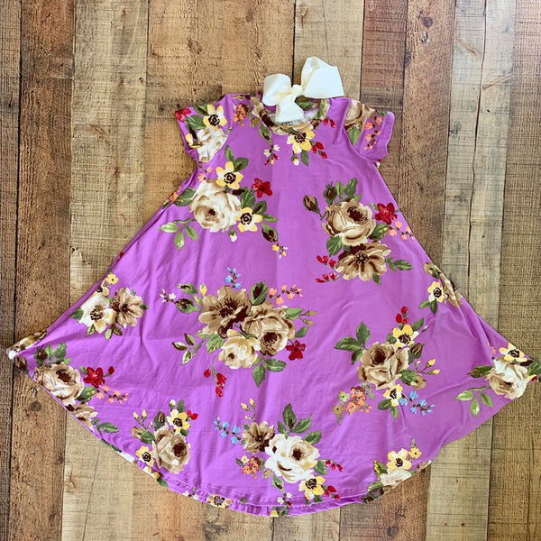 FLORAL LAVENDER DRESS