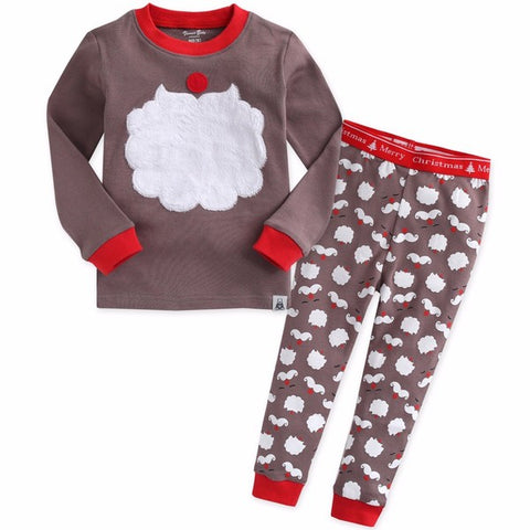 winter santa pajama set