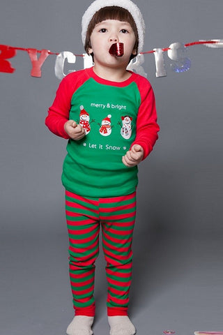 merry snow pajama set