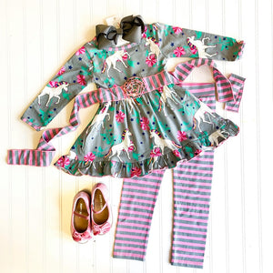 UNICORNS AND RAINBOWS DRESS OUTFIT