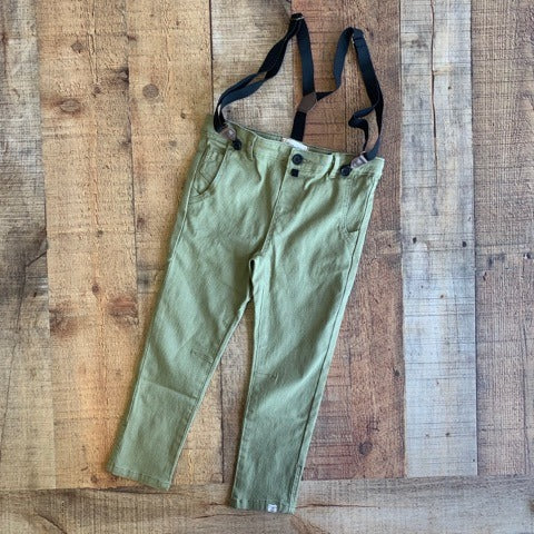 OLIVE WOVEN PANT