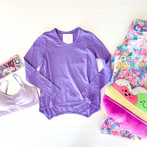 PURPLE HI LO SHIRT