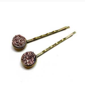 ROSE GOLD DRUZY BOBBY PINS