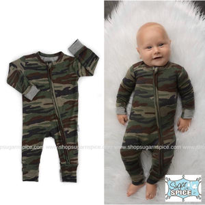 CAMO ZIP ONE PIECE COVERALL