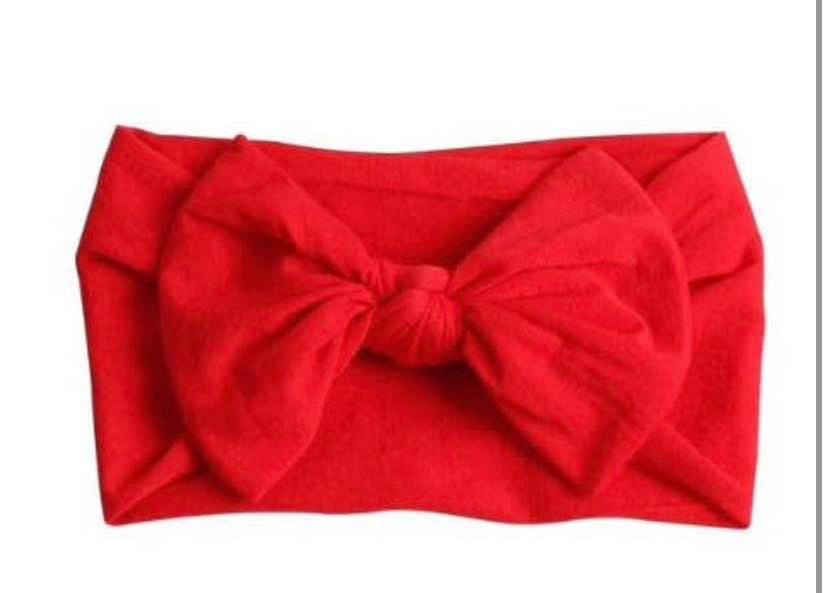 RED NYLON KNOT BOW