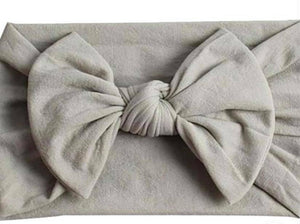 GRAY NYLON KNOT BOW