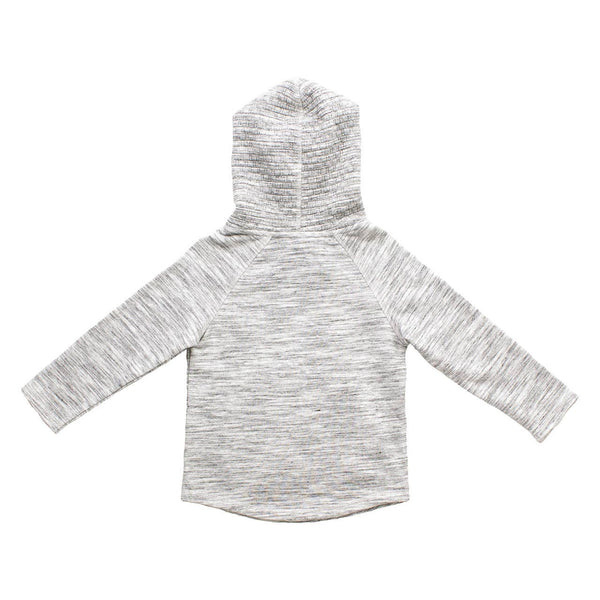 LIGHT GRAY TEXTURED HOODIE
