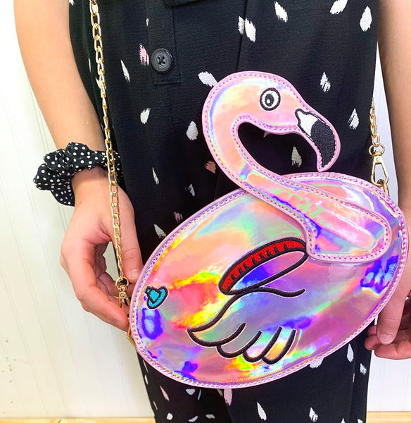 FUN FLAMINGO FLOATY PARTY HANDBAG