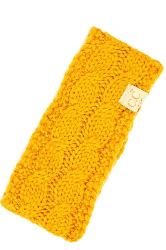 MUSTARD CC KIDS HEAD WRAP