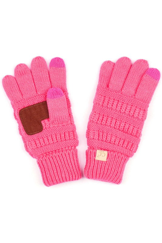 NEW CANDY PINK CC KIDS KNIT GLOVES