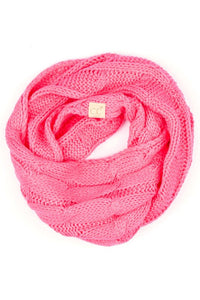 NEW CANDY PINK  CC KIDS KNIT INFINITY SCARF