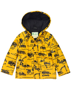 CONSTRUCTION LINED SNAP UP RAIN JACKET