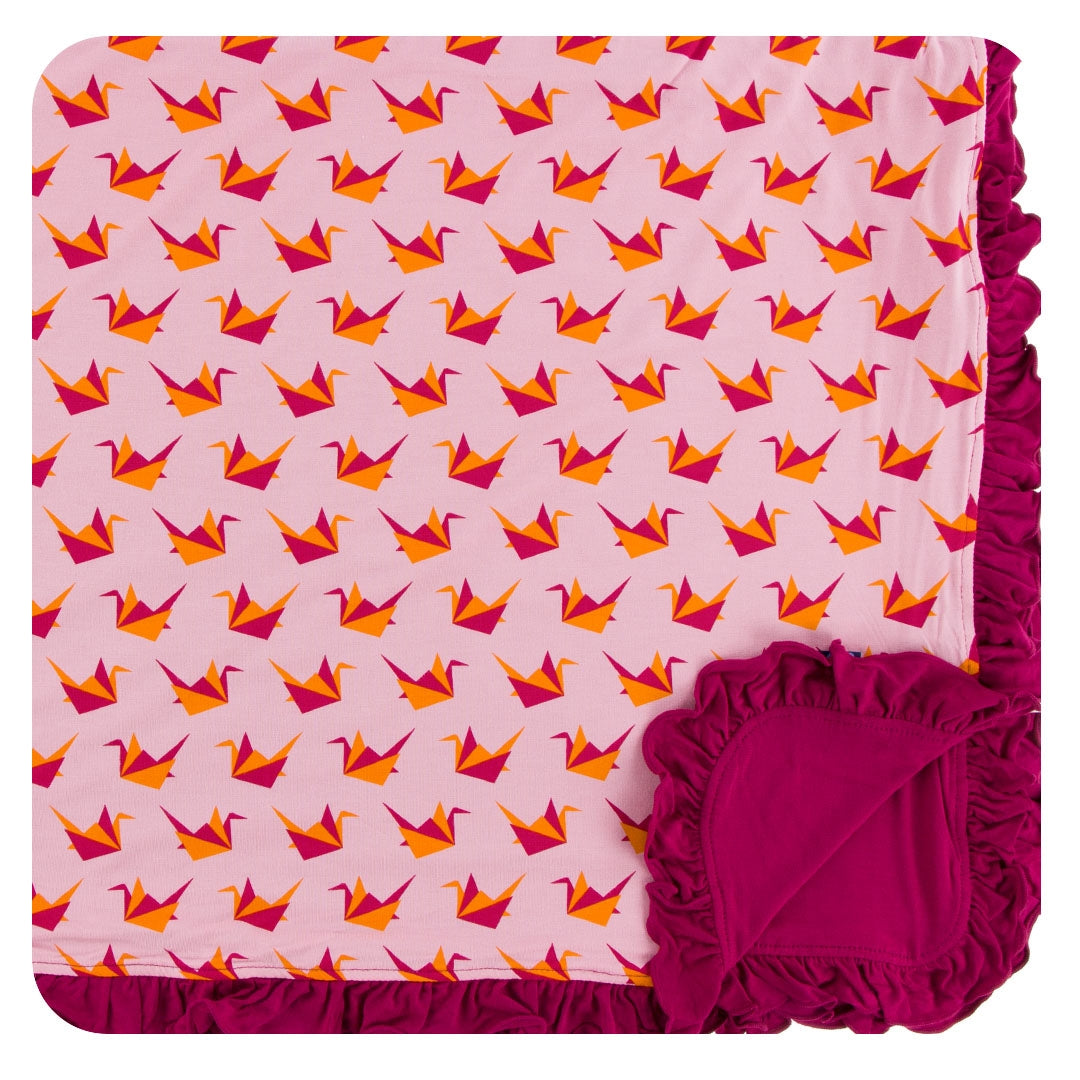 LOTUS ORIGAMI CRANE TODDLER BLANKET
