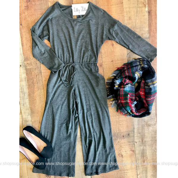 MAISON CHARCOAL JUMPSUIT