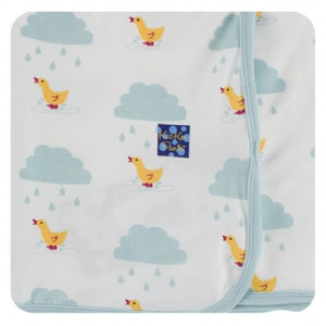 NATURAL PUDDLE DUCK SWADDLING BLANKET