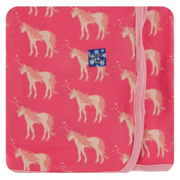 RED GINGER UNICORNS SWADDLE
